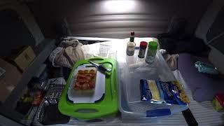 April 3, 2020/155 Trucking. Pepperoni cheese omelette on the hotlogic mini