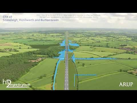 HS2 fly through of the Phase One route between Birmingham and London