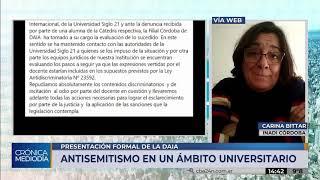 Inadi toma intervención en el caso de antisemitismo en una clase de la Universidad Siglo 21