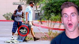 Blind Man Drops 1 Million Dollars (SOCIAL EXPERIMENT)