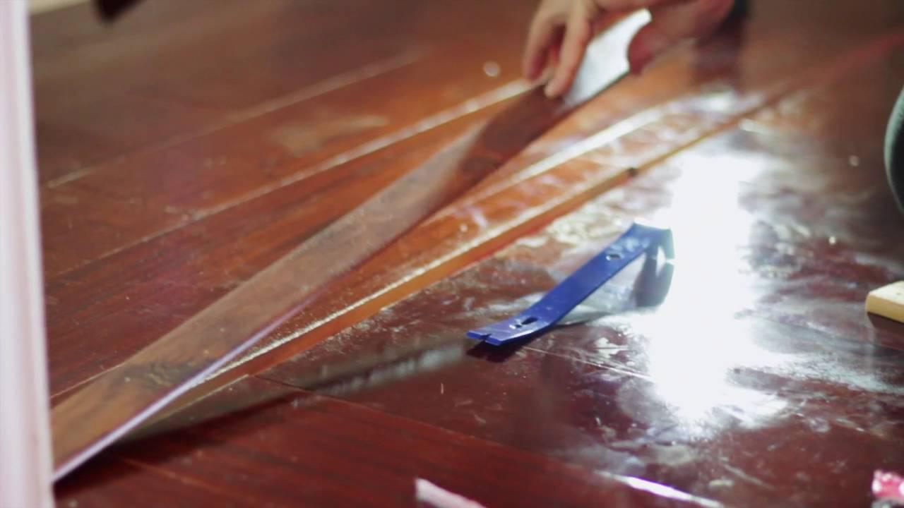 DIY Home Renovation Hardwood floors Installation - YouTube
