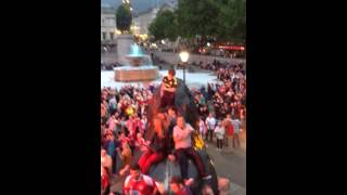 Middlesbrough fans in Trafalgar Square on the eve of championship playoff final 24/5/15