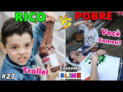 RICO VS POBRE FAZENDO AMOEBA / SLIME #27
