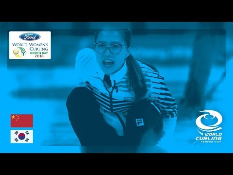 China v Korea - Round-robin - Ford World Women's Curling Championships 2018