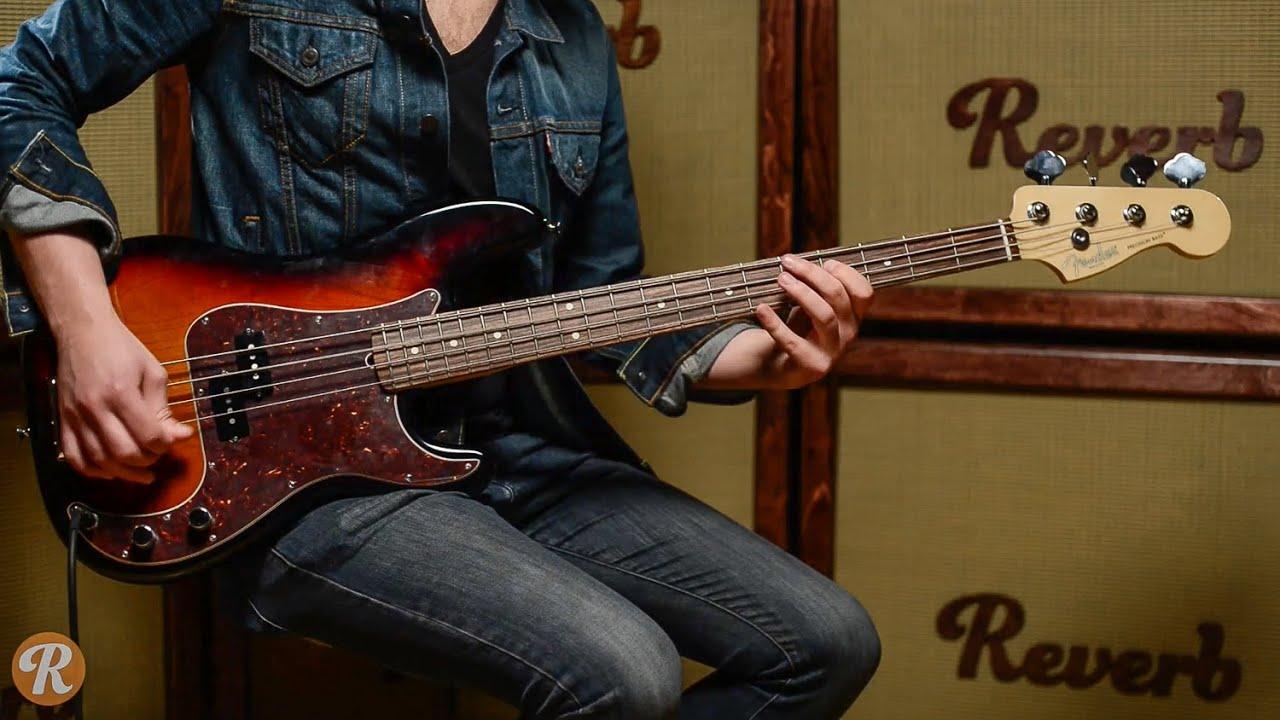 standard p&l format  Fender American Standard Precision Bass Demo