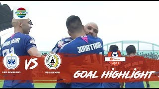 PSIS Semarang (3) vs (0) PSS Sleman - Goals Highlights | Shopee Liga 1