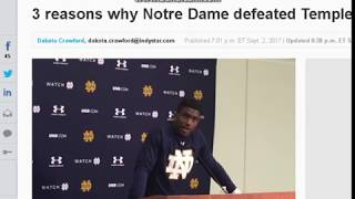 3 reasons why Notre Dame defeated Temple, 49 16