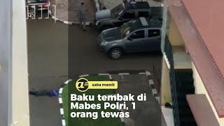 Baku tembak di Mabes Polri, 1 orang tewas