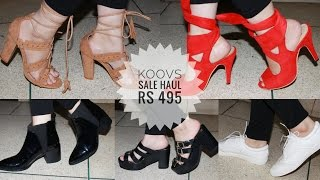 KOOVS Sale Haul 2017 | Shoe Haul |  Online Shopping in India | Swatzparadise