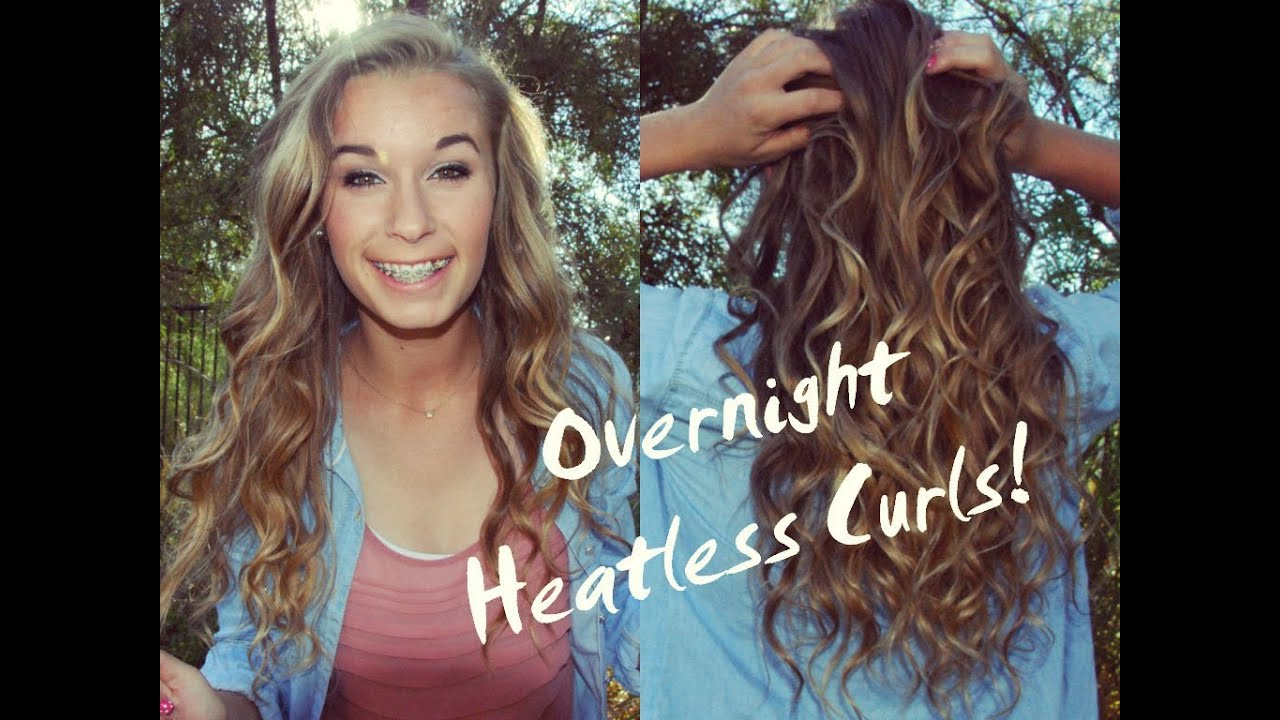 ❀ perfect heatless overnight curls! ❀ - youtube