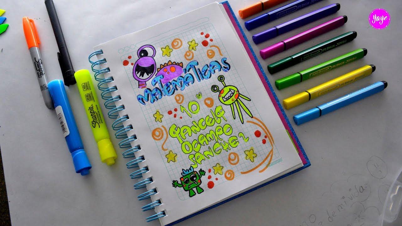 Ideas Para Marcar Cuadernos Cómo Dibujar Portada De Matemáticas Dibujos Para Niños Youtube