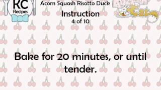 Acorn Squash Risotto Duck - Kitchen Cat