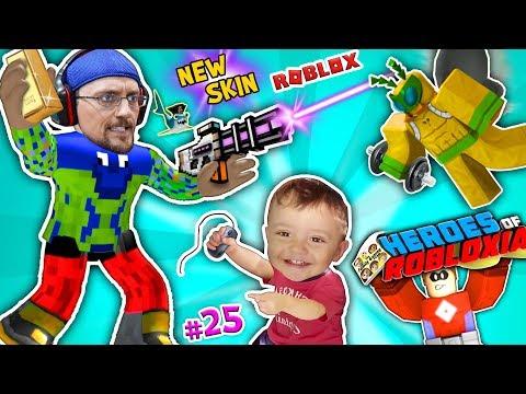 ROBLOX FGTEEV SUPER HEROES of ROBLOXIA + GYM TYCOON + New Skin Pixel Gun Pt 25