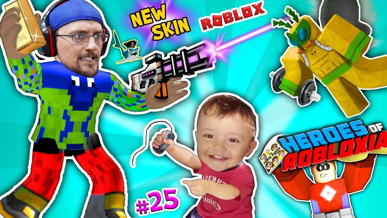 Roblox Fgteev Super Heroes Of Robloxia Gym Tycoon New Skin Pixel Gun Pt 25 - fgteev roblox tycoon superhero