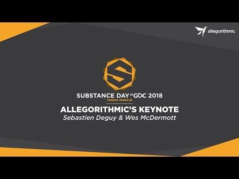 Substance Day at GDC 2018 Keynote