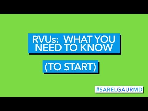RVUs:  What You Need to Know (To Start)