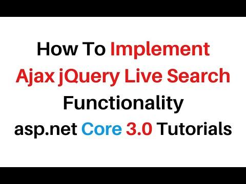 ASP.NET Core 3.0 Razor Pages Ajax jQuery 3.4.1 Live Search Filter thumbnail