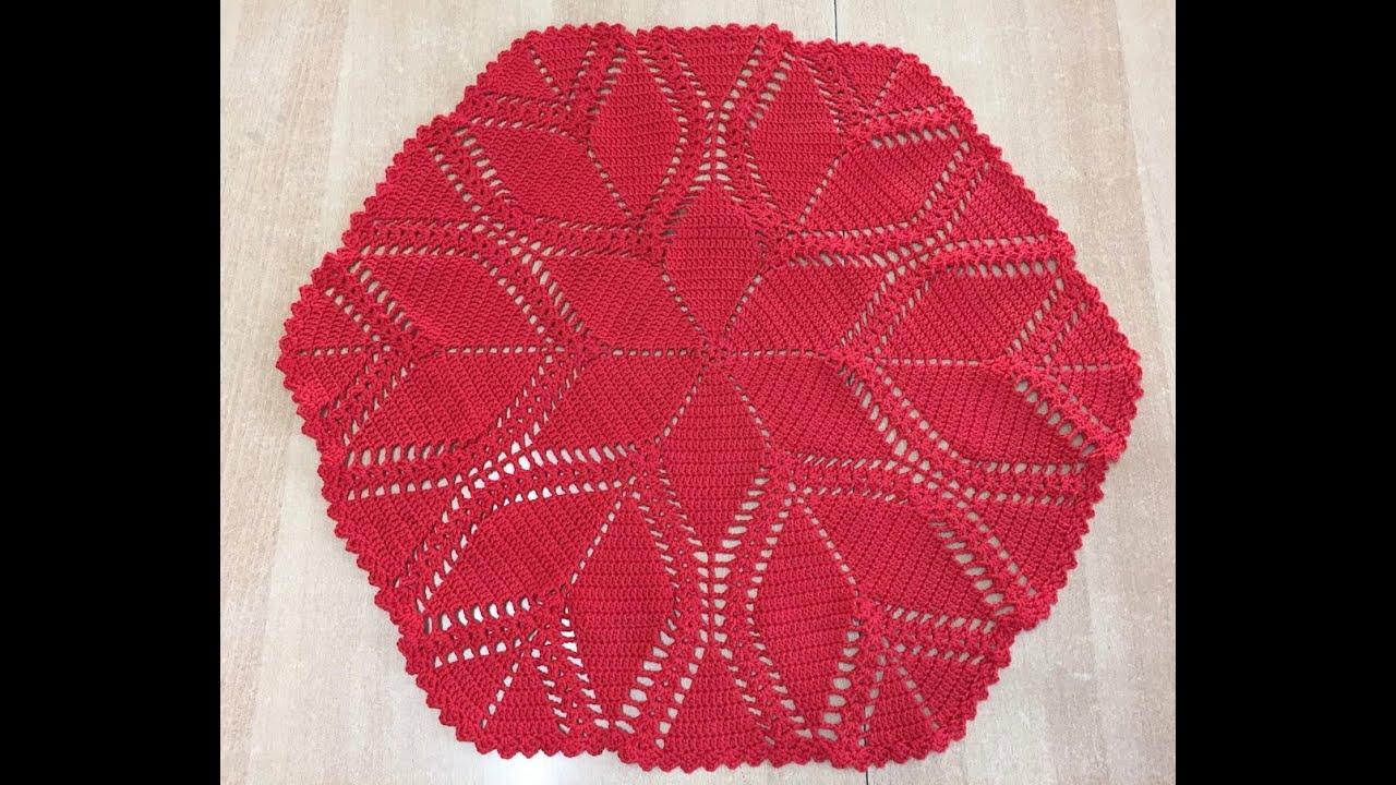 tuto nappe ronde au crochet 1 2 youtube. Black Bedroom Furniture Sets. Home Design Ideas