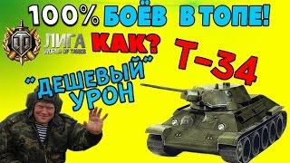 Т-34 | В каждом бою в топе! Узнай как! Сделай бои доходными! 2 боя, расчёт и эксперимент.