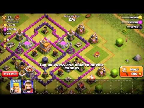 200 Level 4 Barbarian Attack