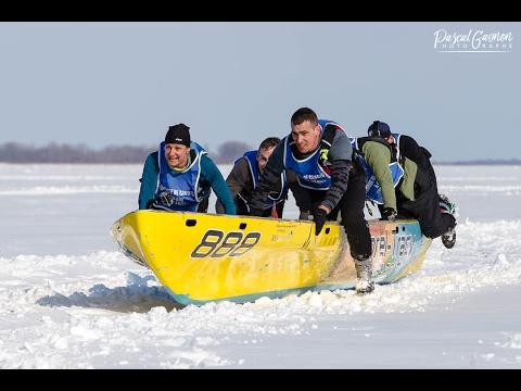 Course de canot à glace, Sorel-Tracy le 18 février 2017