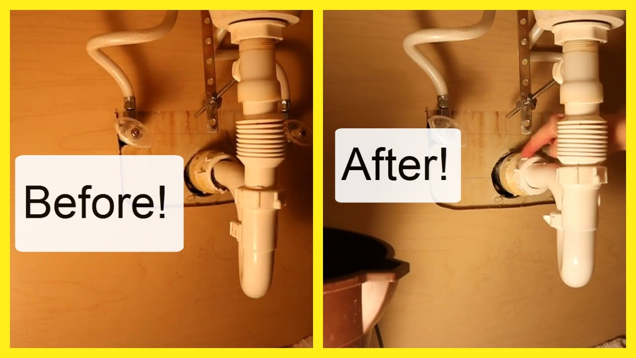 sc 1 st  YouTube & REPLACE A LEAKING SINK DRAIN PIPE - CAN WE DO THIS? - YouTube