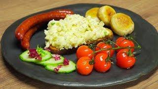 видео Яичница-болтунья с томатным соусом