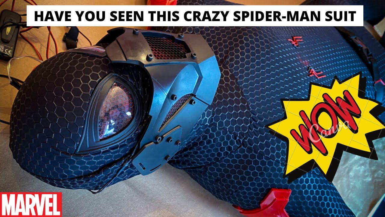 NEVER SEEN BEFORE SPIDER-MAN MOVIE SUIT
