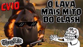 O LAVA HOUND MAIS MITO DO CLASH OF CLANS NA DEFESA DO CV10!!!
