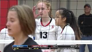 High School Volleyball: Simley vs. North St. Paul