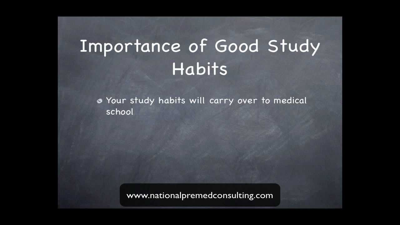 medical school admissions successful study habits medical school admissions successful study habits