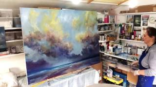 Time-lapse film. Large commission painting in progress