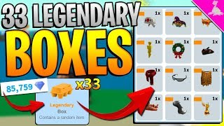 OPENING 33 LEGENDARY BOXES IN ROBLOX EGG FARM SIMULATOR! *82.000+ DIAMONDS*
