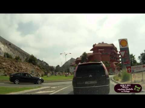 QQLX 0053 SPAIN  trip from Marbella to Malaga - Street view car 2012