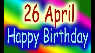 26 April Special New Birthday Status Video, happy birthday wishes, birthday msg quotes जन्मदिन