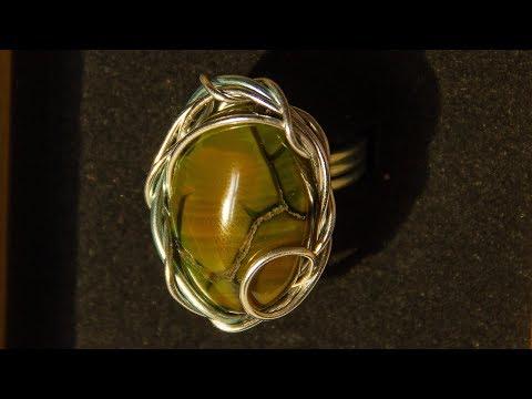 Самый простой мастер класс! Кольцо с камнем из проволоки за 20 минут своими руками