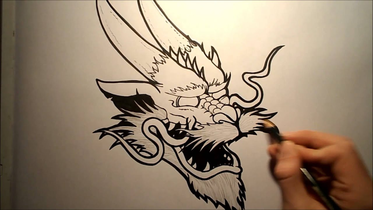 How To Draw A Chinese Dragon Head YouTube