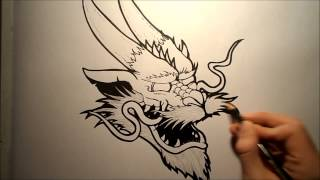 How To Draw A Chinese Dragon Head