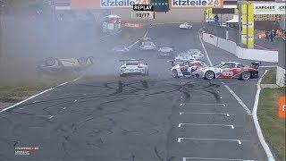 Porsche Carrera Cup Deutschland 2018. Race 1 Circuit Zandvoort. Restart Big Crash Red Flag