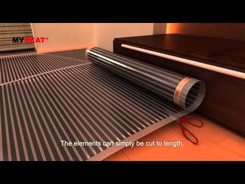 MyHeat underfloor heating - carbon film installation