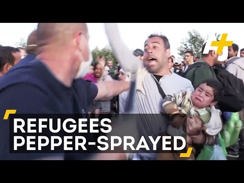 Hungarian Police Pepper-Spray Refugees Seeking To Avoid Camps