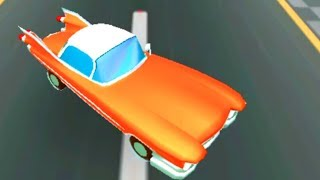 Colorful game - Car crash with police car in the north pole crashing penguin cartoon for kids