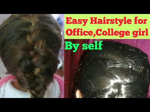 Easy Hairstyle For Office College Girl By Self Youtube