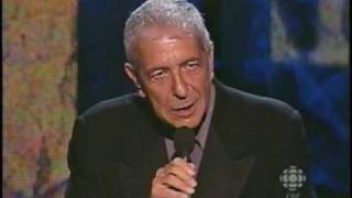 leonard cohen accepting induction into cshf 2006 part ii