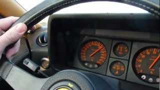 Ferrari Testarossa full acceleration 0-220 km/H on autobahn !
