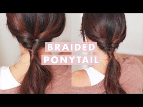 Super Easy Braided Ponytail