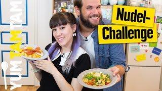 Nudelpfannen-Challenge // How to Nudeln #3 // #yumtamtam