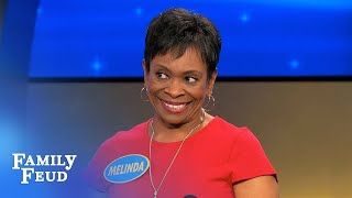 Steve meets Melinda... and Obama! | Family Feud