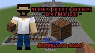 Minecraft Monkeys Spinning Monkeys Noteblock Song Kevin Macleod