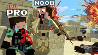 THE REAL WAR in MINECRAFT! NOOB vs PRO! Challenge in Minecraft Animation!